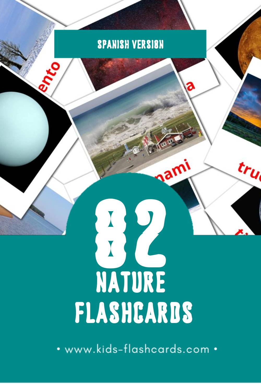 Visual Naturaleza Flashcards for Toddlers (31 cards in Spanish)