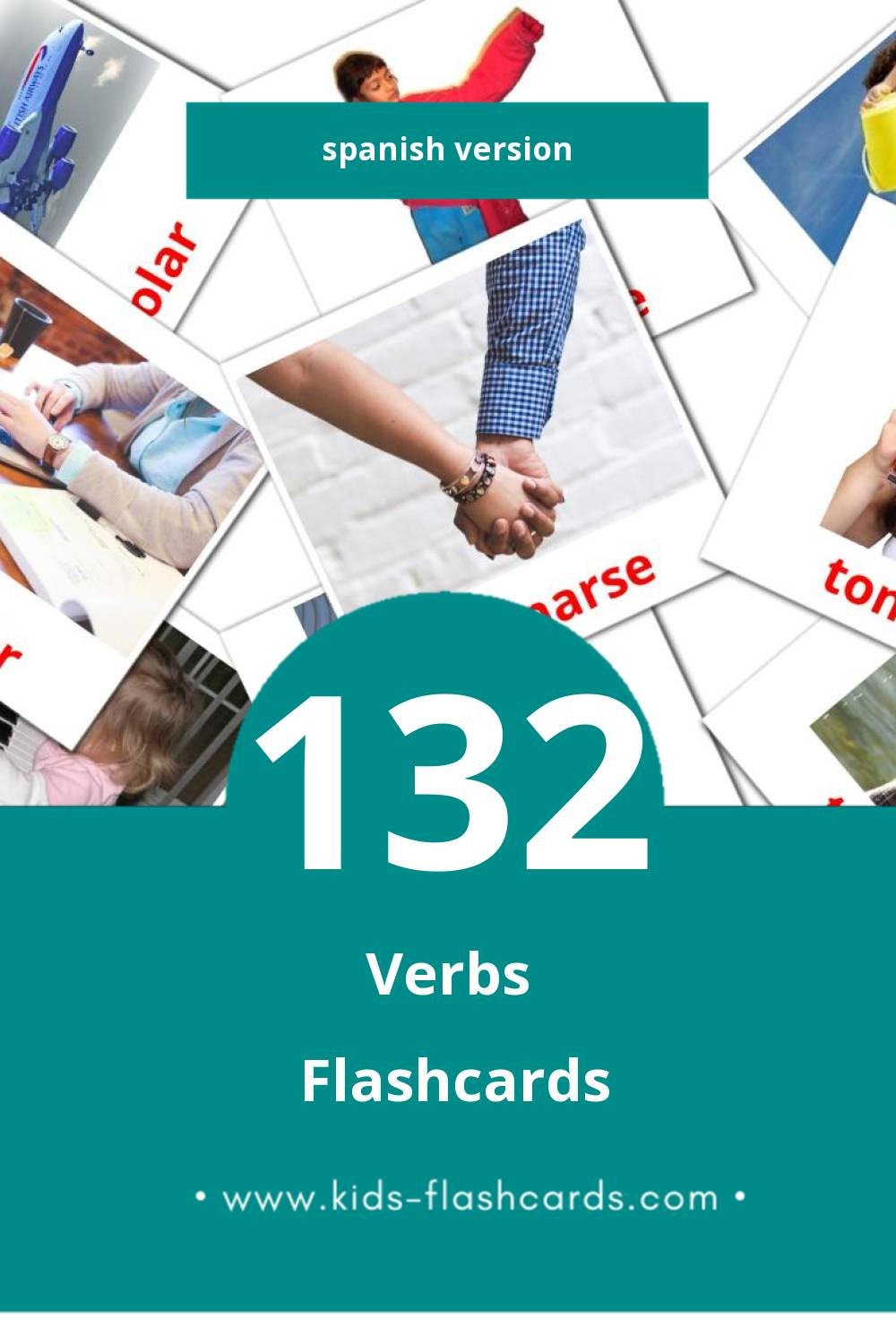 Visual Verbosa Flashcards for Toddlers (133 cards in Spanish)