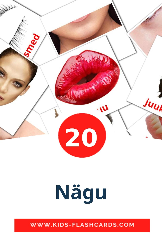 Nägu на эстонском для Детского Сада (20 карточек)