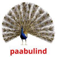 paabulind picture flashcards