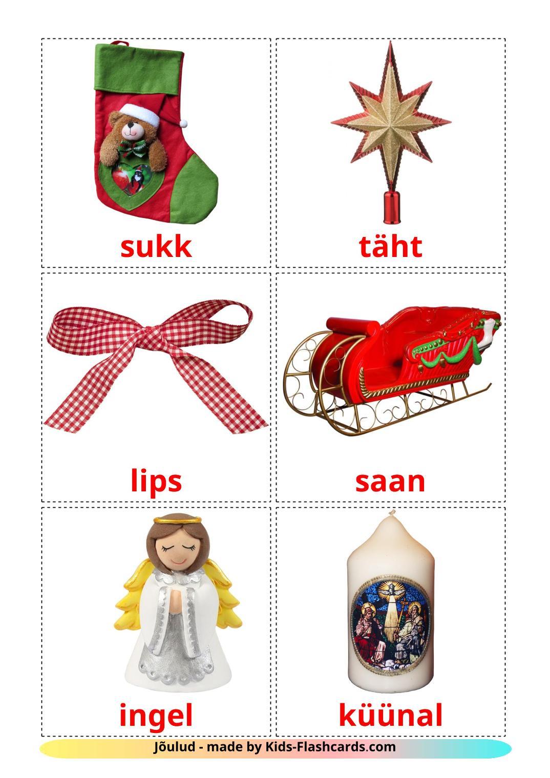 Christmas - 28 Free Printable estonian Flashcards