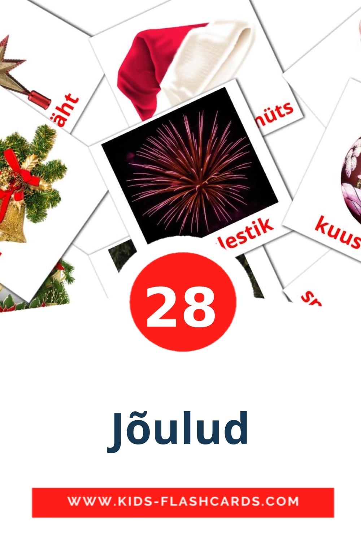 28 Jõulud Picture Cards for Kindergarden in estonian
