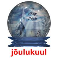 jõulukuul picture flashcards