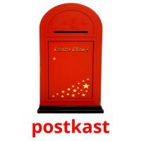 postkast picture flashcards