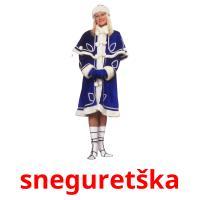 sneguretška picture flashcards