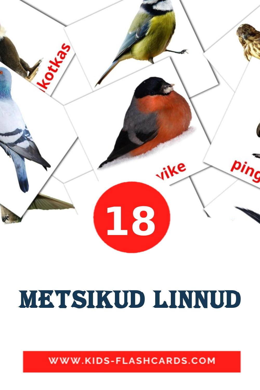 {2} Metsikud linnud Picture Cards for Kindergarden in estonian