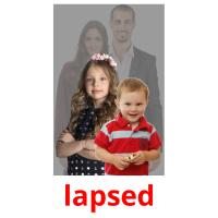 lapsed picture flashcards