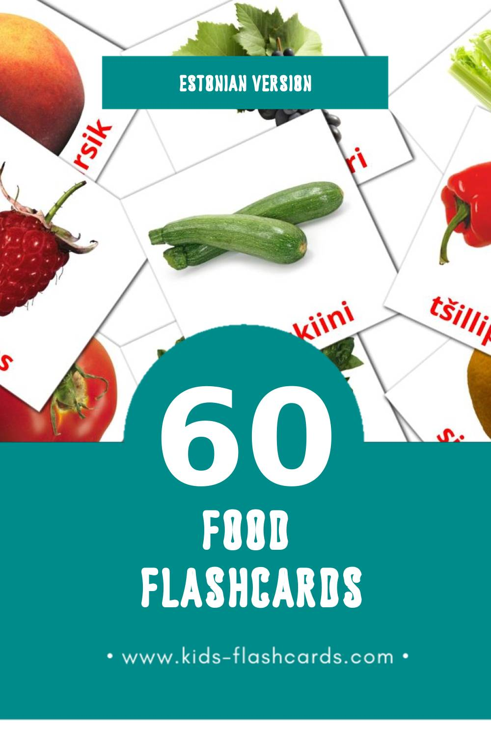 Visual Toit Flashcards for Toddlers (49 cards in Estonian)