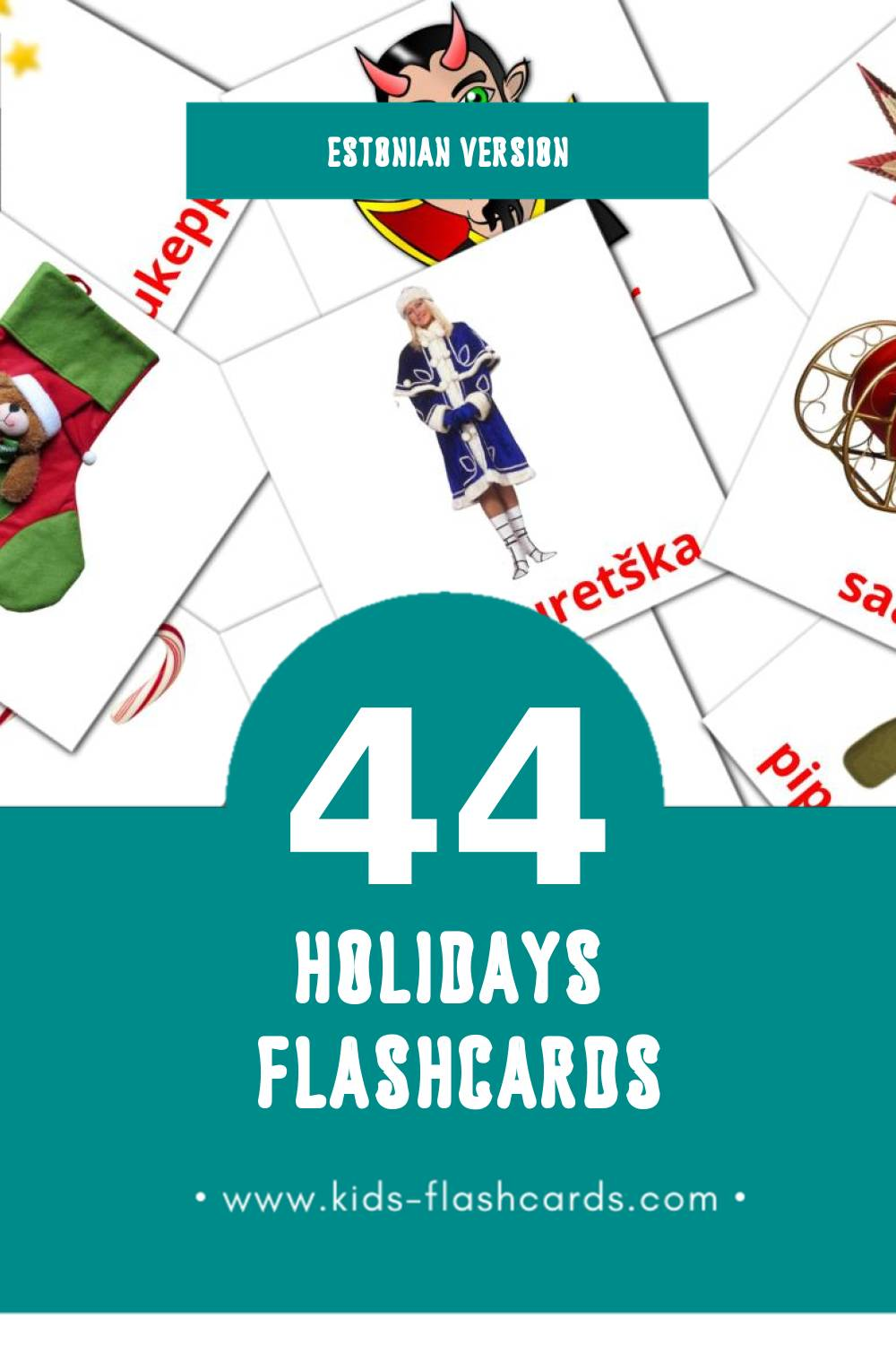 Visual Pühad Flashcards for Toddlers (28 cards in Estonian)