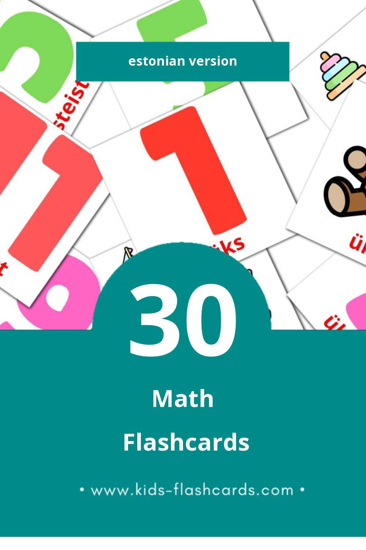 Visual matemaatika Flashcards for Toddlers (20 cards in Estonian)