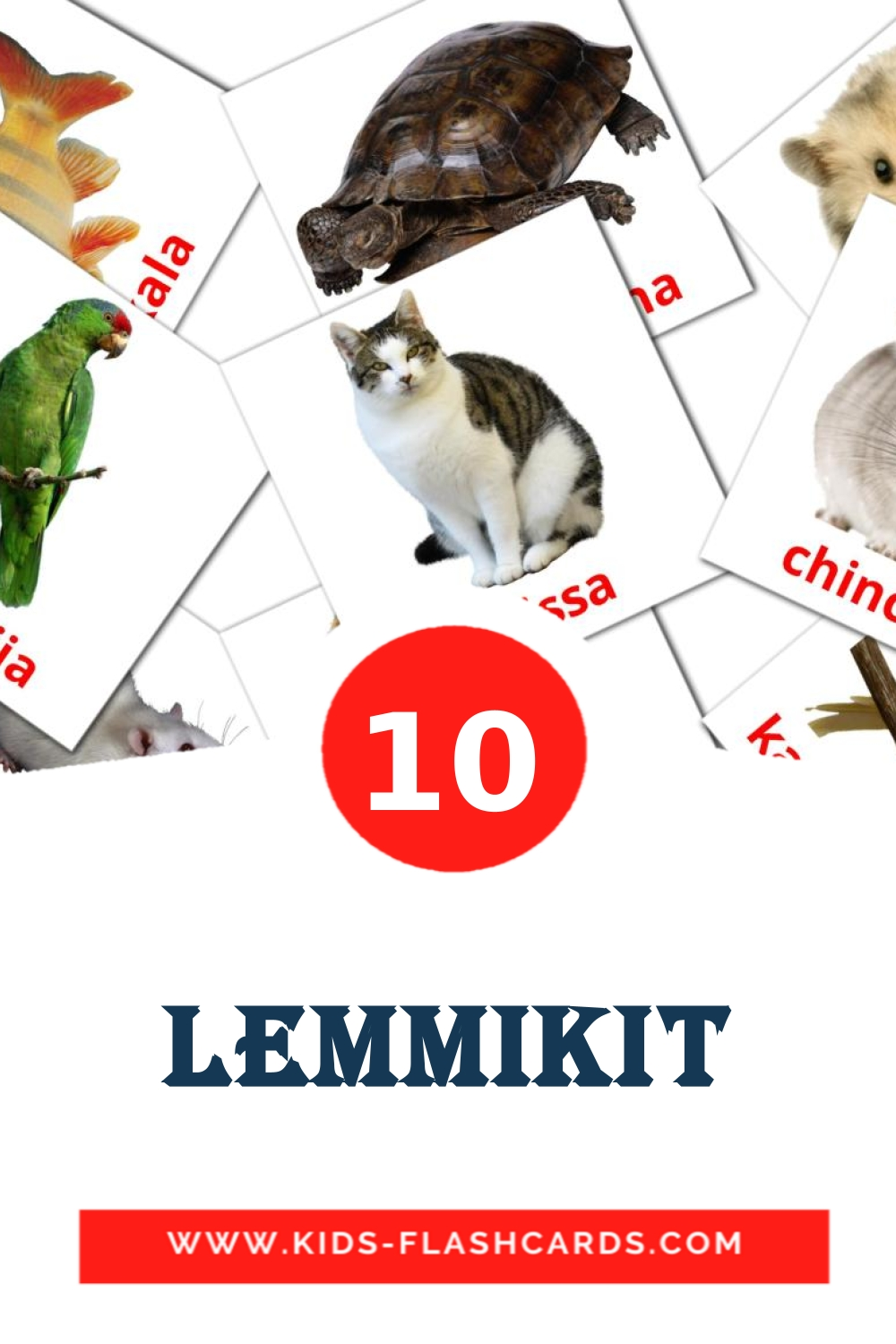 10 Lemmikit Picture Cards for Kindergarden in finnish
