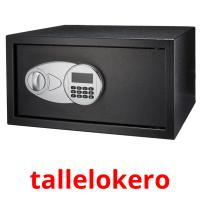 tallelokero picture flashcards