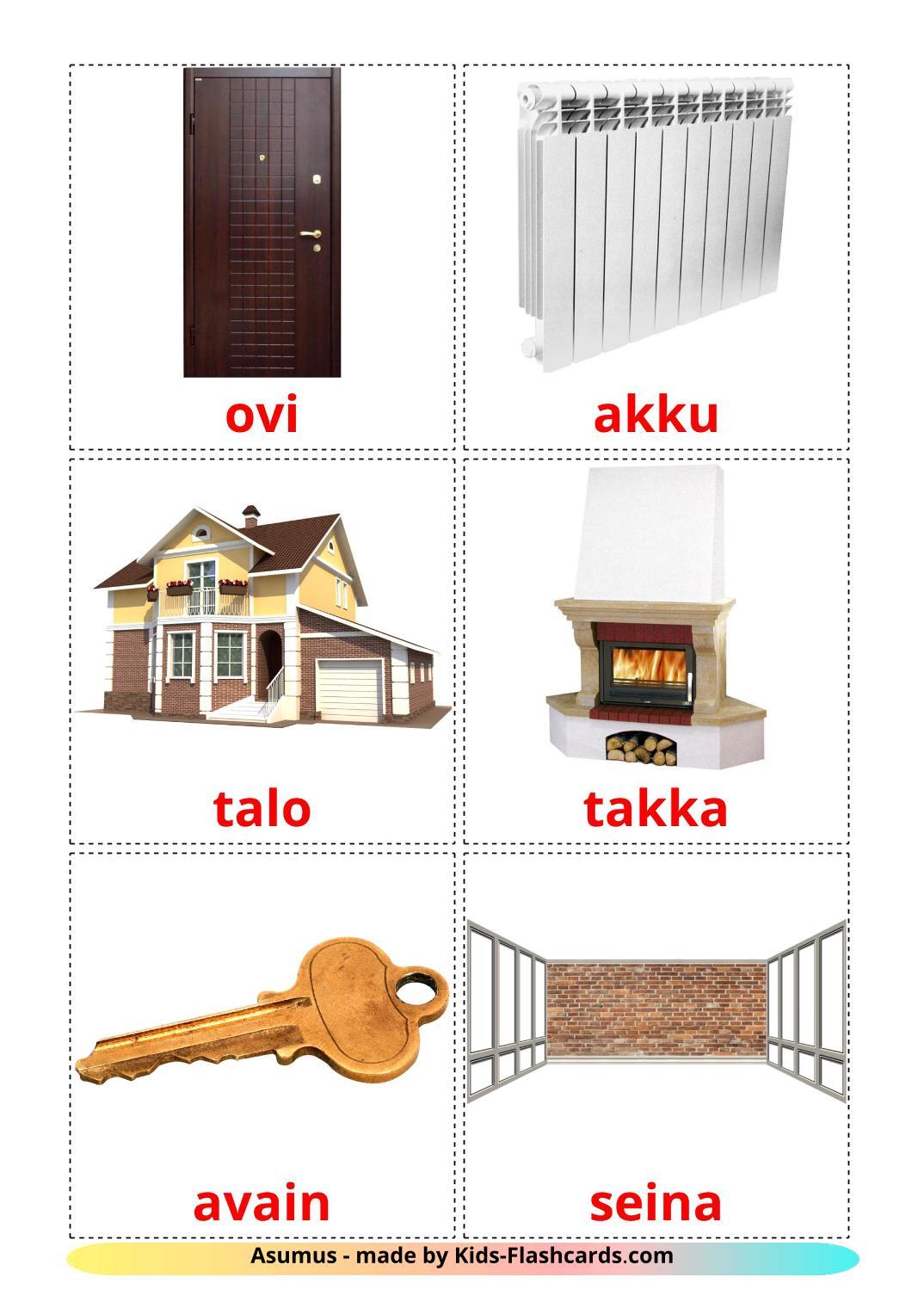 House - 25 Free Printable finnish Flashcards