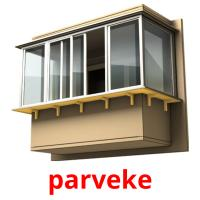 parveke picture flashcards