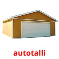 autotalli picture flashcards