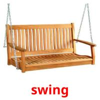 swing picture flashcards
