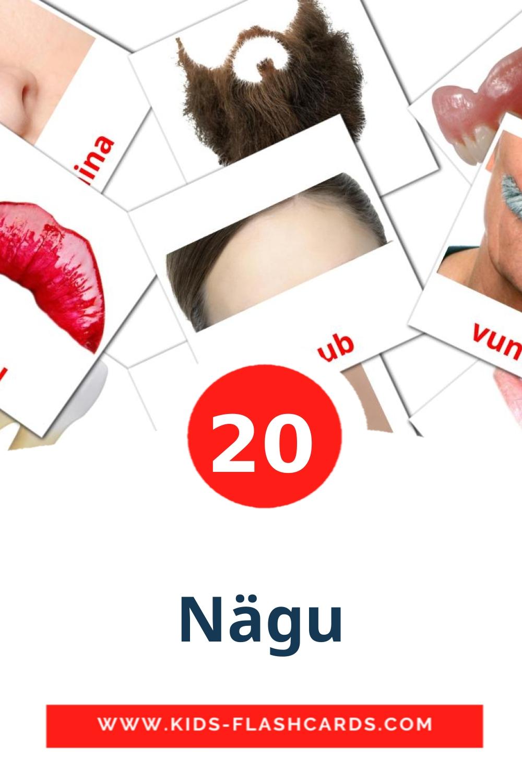 20 Nägu Picture Cards for Kindergarden in finnish
