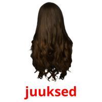 juuksed picture flashcards