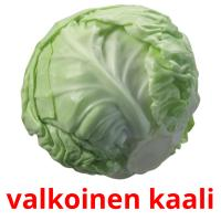 valkoinen kaali card for translate