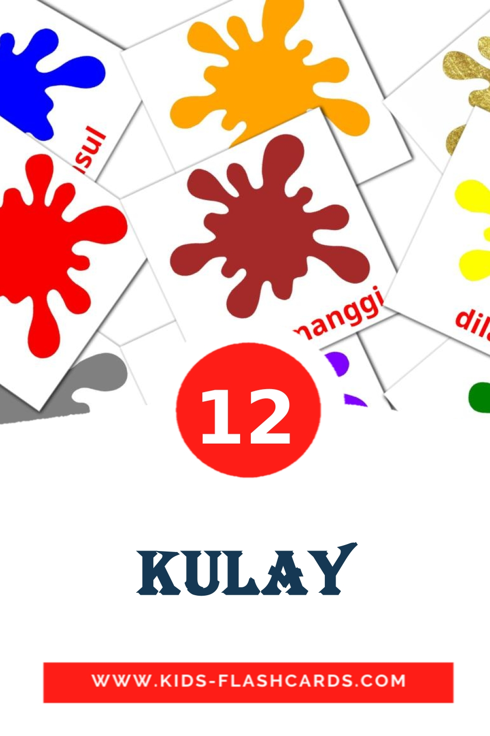 12 Kulay Picture Cards for Kindergarden in filipino
