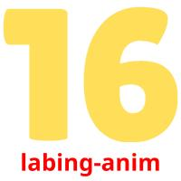 labing-anim picture flashcards