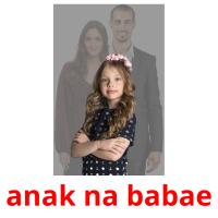 anak na babae picture flashcards
