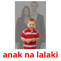 anak na lalaki picture flashcards
