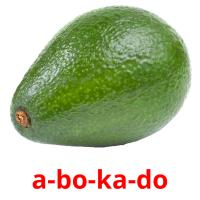 a-bo-ka-do picture flashcards