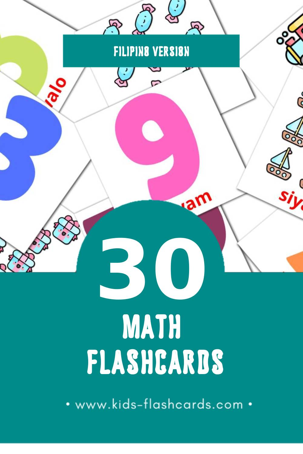 Visual Ilonggo 1-10 Flashcards for Toddlers (30 cards in Filipino)