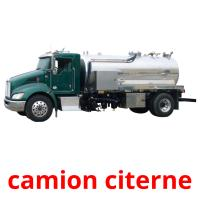 camion citerne picture flashcards