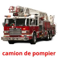 camion de pompier picture flashcards