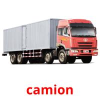 camion picture flashcards
