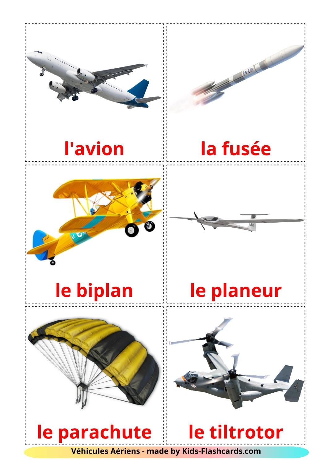 Aircraft - 14 Free Printable french Flashcards