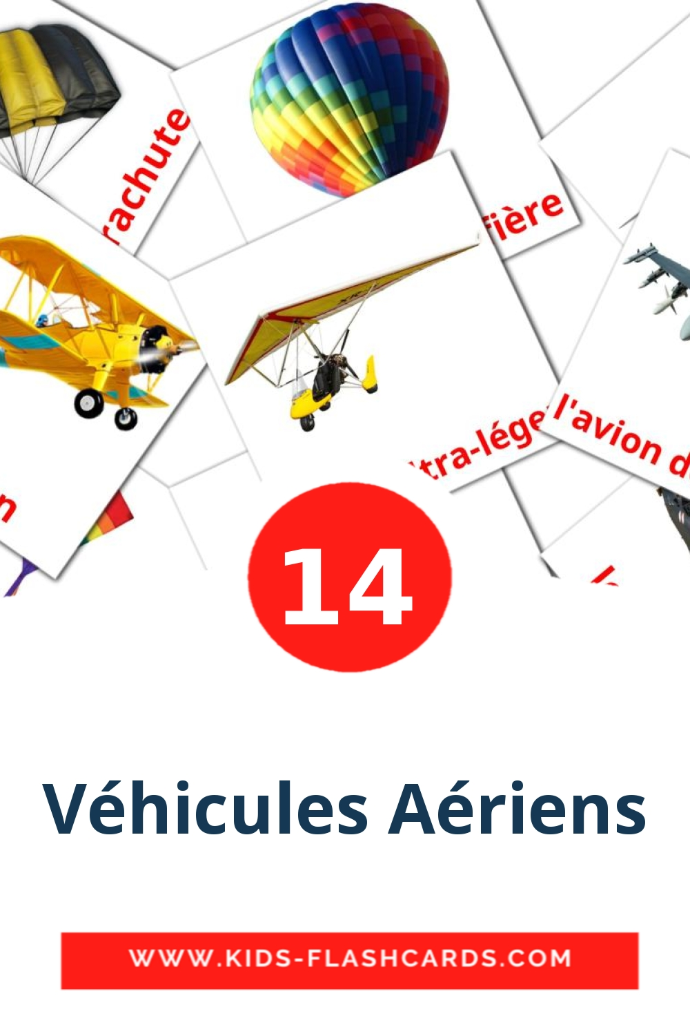 14 Le transport aérien Picture Cards for Kindergarden in french