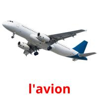 l'avion picture flashcards