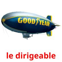 le dirigeable picture flashcards