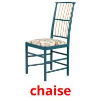 chaise picture flashcards