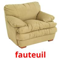 fauteuil picture flashcards