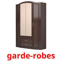 garde-robes picture flashcards