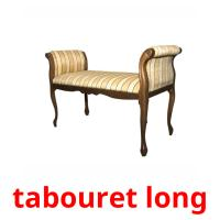 tabouret long picture flashcards