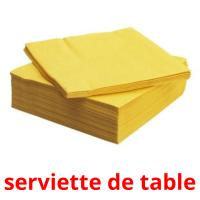 serviette de table picture flashcards