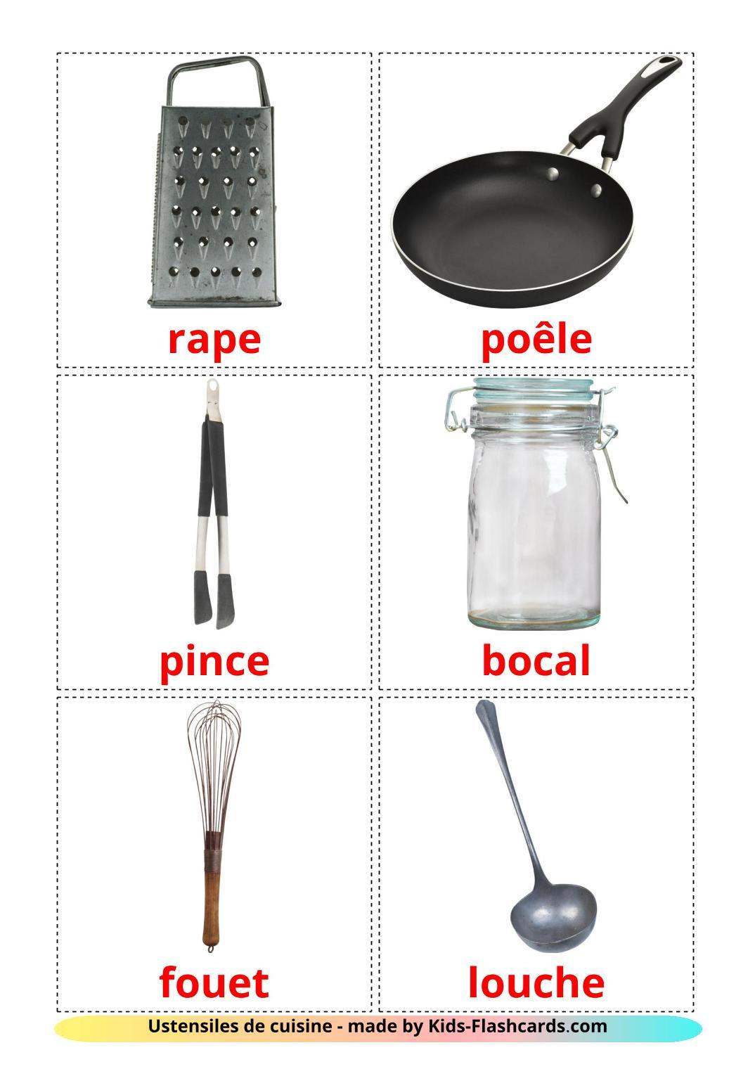 Kitchenware - 35 Free Printable french Flashcards