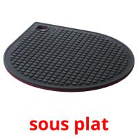 sous plat picture flashcards