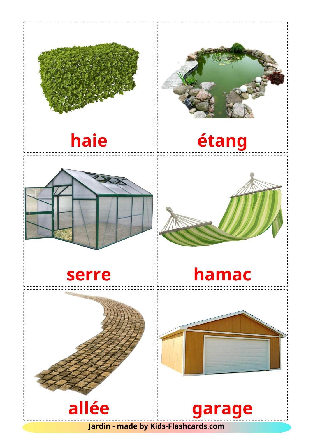 Garden - 18 Free Printable french Flashcards