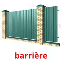 barrière picture flashcards