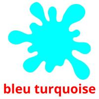 bleu turquoise picture flashcards
