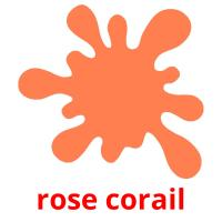 rose corail picture flashcards