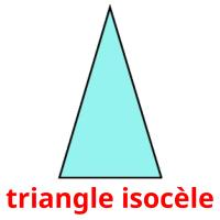 triangle isocèle picture flashcards