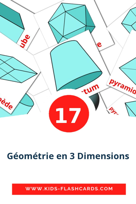 17 Formes en 3D Picture Cards for Kindergarden in french
