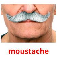 moustache picture flashcards